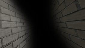 Ο θλιβερός διάδρομος Σκοτεινός και θλιβερός, πλήρης των μυστηρίων, ο διάδρομος 41 διανυσματική απεικόνιση