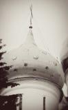 Ο θόλος εκκλησιών στην τριάδα Sergius Lavra από τα αστέρια Στοκ Φωτογραφίες