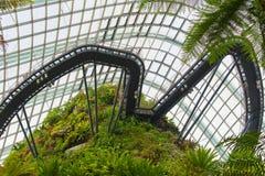 Ο θόλος σύννεφων του κήπου από τον κόλπο Σιγκαπούρη Στοκ Φωτογραφία