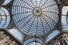 Ο θόλος της στοάς Umberto I, Νάπολη, Ιταλία Στοκ Εικόνα