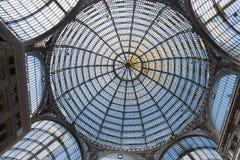 Ο θόλος της στοάς Umberto I, Νάπολη, Ιταλία Στοκ φωτογραφία με δικαίωμα ελεύθερης χρήσης