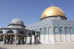 Ο θόλος του βράχου στο ναό τοποθετεί στην Ιερουσαλήμ στοκ φωτογραφία με δικαίωμα ελεύθερης χρήσης