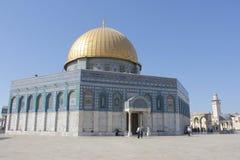 Ο θόλος του βράχου στο ναό τοποθετεί στην Ιερουσαλήμ στοκ εικόνες