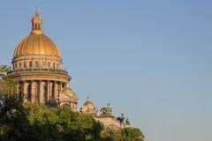 ο θόλος του καθεδρικού ναού του ST Isaac Στοκ φωτογραφίες με δικαίωμα ελεύθερης χρήσης