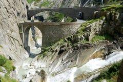 ο διάβολος γεφυρών gotthard περνά το s ST στοκ φωτογραφίες με δικαίωμα ελεύθερης χρήσης