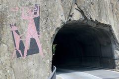ο διάβολος γεφυρών gotthard περνά το s ST στοκ εικόνες