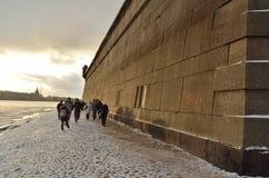 Ο διάσημοι Peter και το φρούριο του Paul Στοκ φωτογραφία με δικαίωμα ελεύθερης χρήσης