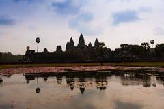 Ο διάσημος ναός σύνθετο κοντινό Siem Angkor Wat συγκεντρώνει στην Καμπότζη Στοκ εικόνες με δικαίωμα ελεύθερης χρήσης