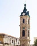 Ο διάσημος παλαιός πύργος ρολογιών Jaffa στο Τελ Αβίβ, Ισραήλ Στοκ εικόνα με δικαίωμα ελεύθερης χρήσης