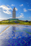 Ο διάσημος πύργος Hercules Στοκ εικόνα με δικαίωμα ελεύθερης χρήσης