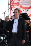 Ο διάσημος δράστης Mikhail Morozov - μόλυβδοι και αντιπροσωπεύει την όπερα φεστιβάλ Kronstadt Στοκ Φωτογραφία