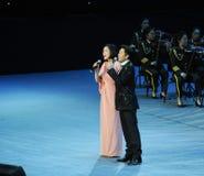 Ο διάσημος τραγουδιστής Κίνα CAI Guoqing και baixue-theFamous και classicconcert Στοκ Εικόνες