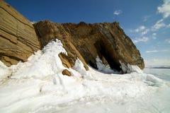 Ο διάσημος φυσικός βράχος της Virgin βράχου Deva ορόσημων στο βόρειο ακρωτήριο Khoboy στοκ φωτογραφίες