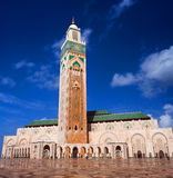Ο διάσημος Χασάν ΙΙ μουσουλμανικό τέμενος στη Καζαμπλάνκα, Μαρόκο Στοκ εικόνα με δικαίωμα ελεύθερης χρήσης
