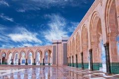 Ο διάσημος Χασάν ΙΙ μουσουλμανικό τέμενος στη Καζαμπλάνκα, Μαρόκο, Αφρική Στοκ Εικόνες