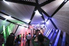 Ο διάδρομος λαμπτήρας-κινεζικό EXPO 2010 περίπτερο ανθρώπων πόλεων της Σαγκάη Στοκ φωτογραφίες με δικαίωμα ελεύθερης χρήσης