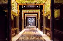 Ο διάδρομος του ξενοδοχείου Στοκ εικόνες με δικαίωμα ελεύθερης χρήσης