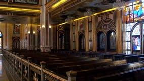 Ο διάδρομος χριστιανικών εκκλησιών απόθεμα βίντεο
