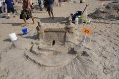 Ο διαγωνισμός 36 Sculpting άμμου Coney Island του 2014 Στοκ φωτογραφία με δικαίωμα ελεύθερης χρήσης