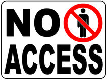 Ο διανυσματικός κύκλος που απαγορεύεται υπογράφει την περιορισμένη περιοχή για το μέλος μόνο ή κανένας εισάγετε το σημάδι στη ζών Στοκ Φωτογραφίες