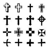 Ο διανυσματικός Μαύρος διασχίζει το εικονίδιο που τίθεται στο άσπρο υπόβαθρο Στοκ φωτογραφία με δικαίωμα ελεύθερης χρήσης