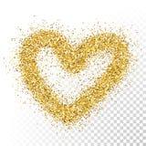 Ο διανυσματικός χρυσός ακτινοβολεί καρδιά μορίων Στοκ Φωτογραφίες
