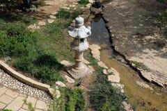Ο ιαπωνικός κήπος στο Wohl αυξήθηκε πάρκο στην Ιερουσαλήμ Στοκ εικόνες με δικαίωμα ελεύθερης χρήσης