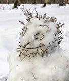 Ο διασκεδάζοντας χιονάνθρωπος Στοκ Φωτογραφίες