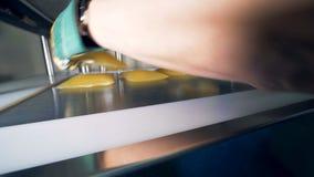 Ο ιατρικός ειδικός αφαιρεί τις τσάντες πλάσματος από τον Τύπο απόθεμα βίντεο