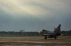 Ο διεθνής αέρας του Βουκουρεστι'ου παρουσιάζει - τυφώνας Eurofighter FGR4 Στοκ Εικόνες