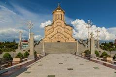 Ο ιερός καθεδρικός ναός τριάδας του Tbilisi Στοκ φωτογραφία με δικαίωμα ελεύθερης χρήσης