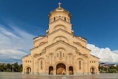 Ο ιερός καθεδρικός ναός τριάδας του Tbilisi Στοκ εικόνες με δικαίωμα ελεύθερης χρήσης