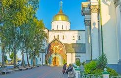 Ο ιερός καθεδρικός ναός τριάδας Pochayiv Lavra Στοκ Εικόνα
