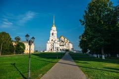 Ο ιερός καθεδρικός ναός Dormition ή καθεδρικός ναός Uspenskiy στην πόλη του Βλαντιμίρ, ρωσική Ορθόδοξη Εκκλησία στοκ φωτογραφίες