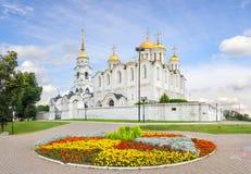 Ο ιερός καθεδρικός ναός Dormition Ρωσία vladimir στοκ φωτογραφία