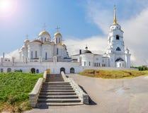 Ο ιερός καθεδρικός ναός Dormition Ρωσία vladimir στοκ εικόνα