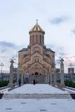Ο ιερός καθεδρικός ναός τριάδας του Tbilisi γνωστού συνήθως ως Sameba στοκ φωτογραφία με δικαίωμα ελεύθερης χρήσης