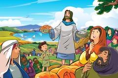 Ιησούς ένας ευχάριστος και φιλεύσπλαχνος διανυσματική απεικόνιση
