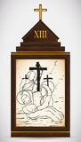 Ο Ιησούς λαμβάνεται κάτω από τη διαγώνια, διανυσματική απεικόνιση Στοκ Φωτογραφία