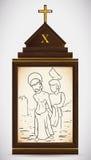 Ο Ιησούς είναι γδυμένος των ενδυμάτων του, διανυσματική απεικόνιση Στοκ εικόνα με δικαίωμα ελεύθερης χρήσης