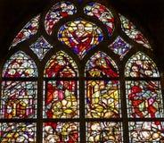 Ο Ιησούς Χριστός λεκίασε το νέο καθεδρικό ναό Nieuwe Kerk Ντελφτ Κάτω Χώρες γυαλιού Στοκ Εικόνες