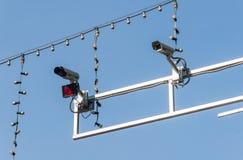 Οδικά κάμερα παρακολούθησης Στοκ Εικόνα