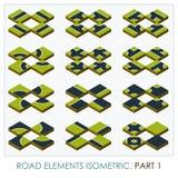 Οδικά στοιχεία isometric Στοκ Εικόνες