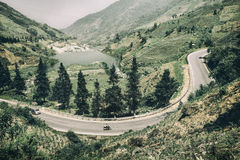 Οδικές στροφές βουνών γύρω από τη λίμνη στο βόρειο Βιετνάμ Στοκ φωτογραφίες με δικαίωμα ελεύθερης χρήσης