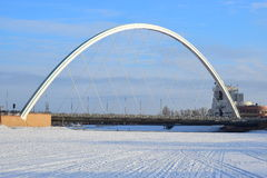Οδική γέφυρα σε Astana/το Καζακστάν Στοκ φωτογραφία με δικαίωμα ελεύθερης χρήσης