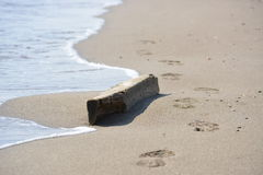 Οδική γραμμή θάλασσας ήλιων άμμου Στοκ Φωτογραφία