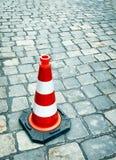 οδική καθορισμένη κυκλοφορία περιφράξεων κώνων χρώματος Στοκ φωτογραφία με δικαίωμα ελεύθερης χρήσης