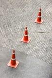 οδική καθορισμένη κυκλοφορία περιφράξεων κώνων χρώματος Στοκ Φωτογραφία