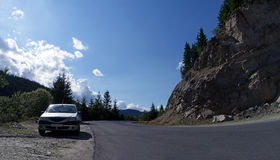 Οδική καμπύλη βουνών Στοκ Εικόνα