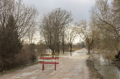 Οδική πλημμύρα Στοκ Εικόνα